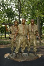 the three servicemen statue is the result of the controversy surrounding maya ying lins design of the vietnam veterans memorial