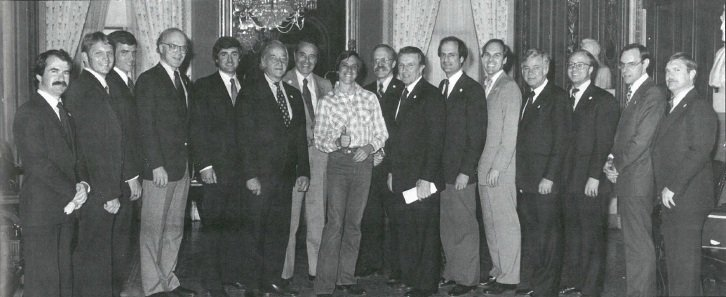 Jan Scruggs with Congress
